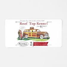Vintage Romney Dog Aluminum License Plate