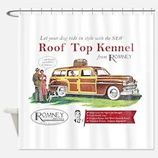 Vintage Romney Dog Shower Curtain