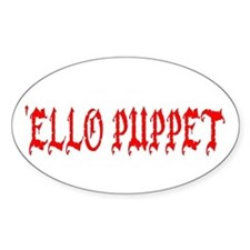 'Ello Puppet Oval Decal