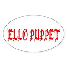 'Ello Puppet Oval Stickers