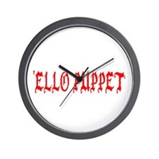 'Ello Puppet Wall Clock