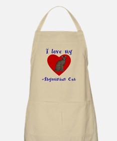 I Love My Abyssinian Cat Apron