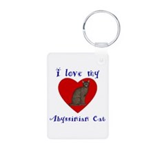 I Love My Abyssinian Cat Keychains