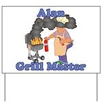 Grill Master Alan Yard Sign