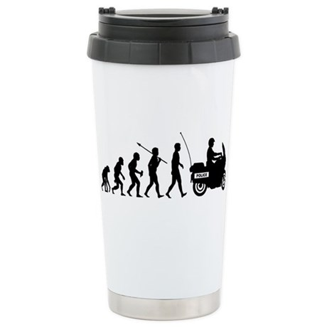Highway Patrol Police Stainless Steel Travel Mug