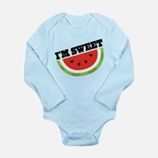 Watermelon I'm Sweet Long Sleeve Infant Bodysuit