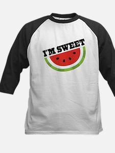 Watermelon I'm Sweet Kids Baseball Jersey