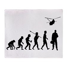 Helicopter Pilot Throw Blanket