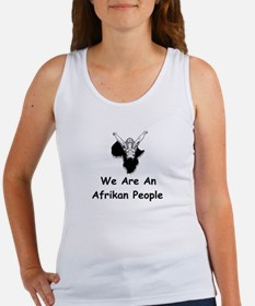 We Are A Afrikan People Women's Tank Top