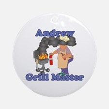 Grill Master Andrew Ornament (Round)