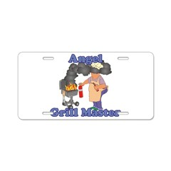 Grill Master Angel Aluminum License Plate