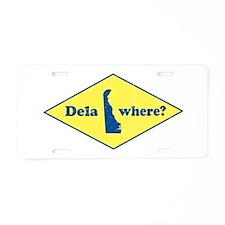 Vintage Delawhere? Aluminum License Plate