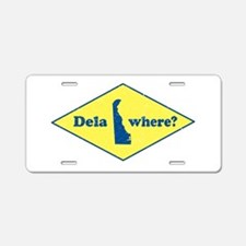 Vintage Delawhere? Aluminum License Plate