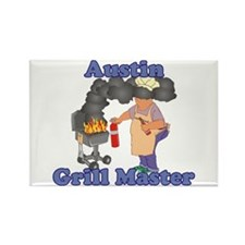 Grill Master Austin Rectangle Magnet