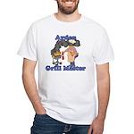 Grill Master Ayden White T-Shirt