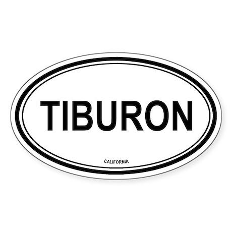 Tiburon oval Oval Sticker