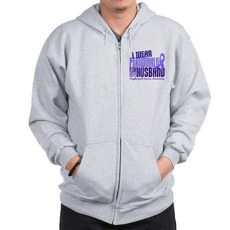 I Wear Periwinkle 6.4 Esophageal Cancer Zip Hoodie