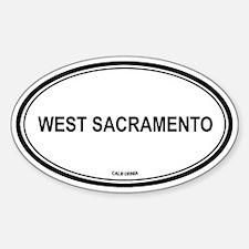 West Sacramento oval Oval Decal