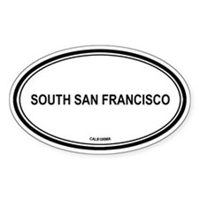 South San Francisco oval Oval Decal