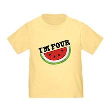 4th Birthday Watermelon T