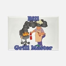 Grill Master Bill Rectangle Magnet