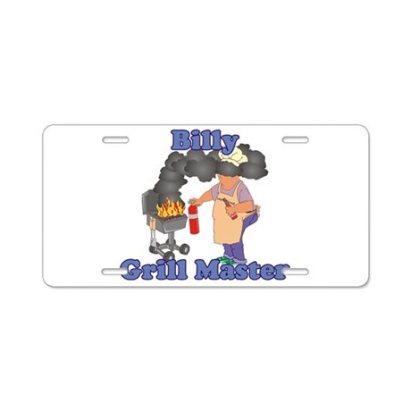 Grill Master Billy Aluminum License Plate