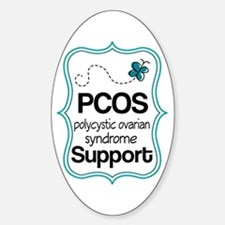 PCOS Teal Butterfly Awareness Decal