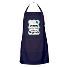 PCOS Teal Butterfly Awareness Apron (dark)
