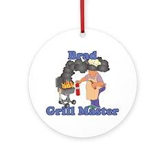 Grill Master Brad Ornament (Round)