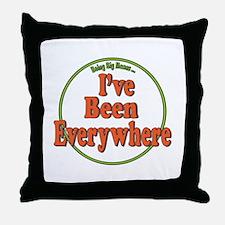 Been Everywhere Throw Pillow