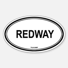 Redway oval Oval Decal