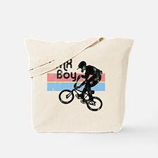1980s BMX Boy Distressed Tote Bag
