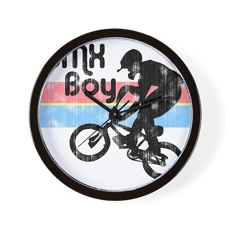 1980s BMX Boy Distressed Wall Clock
