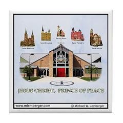Clinton Churches Tile Coaster