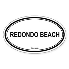 Redondo Beach oval Oval Decal
