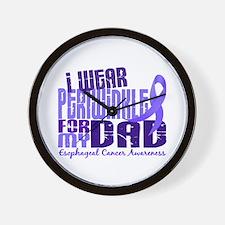 I Wear Periwinkle 6.4 Esophageal Cancer Wall Clock
