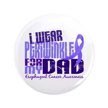 """I Wear Periwinkle 6.4 Esophageal Cancer 3.5"""" Butto"""