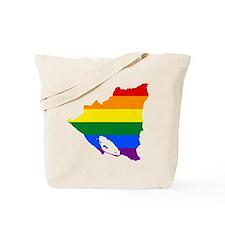 Rainbow Pride Flag Nicaragua Map Tote Bag