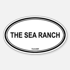 The Sea Ranch oval Oval Decal