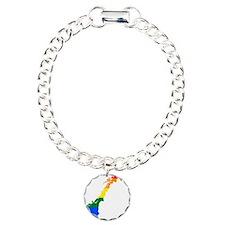 Rainbow Pride Flag Norway Map Bracelet