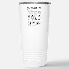 Preposition Travel Mug