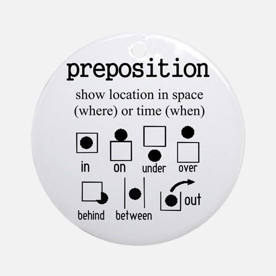 Preposition Ornament (Round)