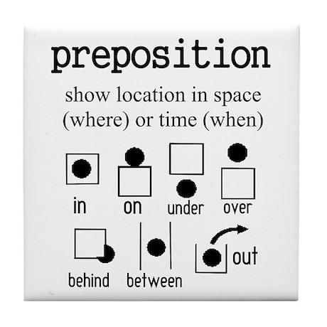 Preposition Tile Coaster