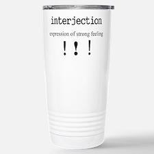 Interjection Stainless Steel Travel Mug