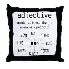ADJECTIVE Throw Pillow
