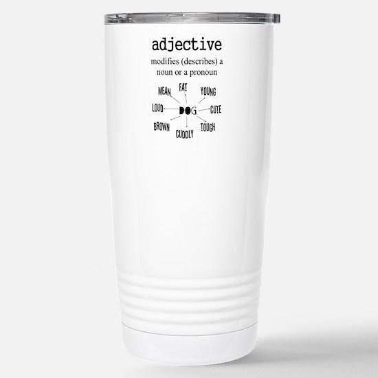 Adjective Stainless Steel Travel Mug