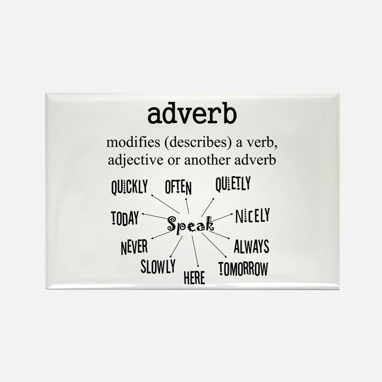 Adverb Rectangle Magnet