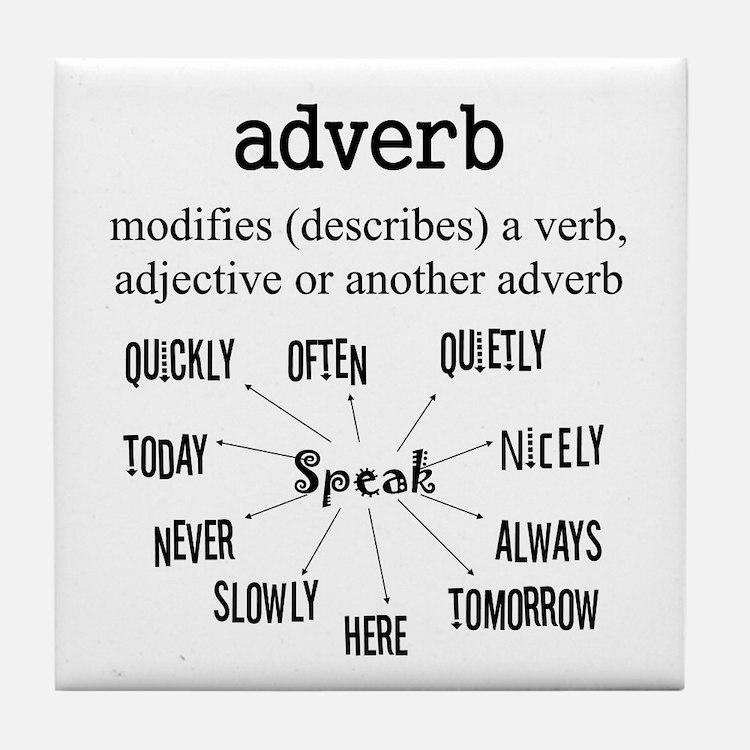 Adverb Tile Coaster