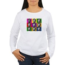 abe lincoln 9 multi colors Long Sleeve T-Shirt