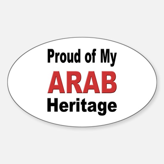 Proud Arab Heritage Oval Decal